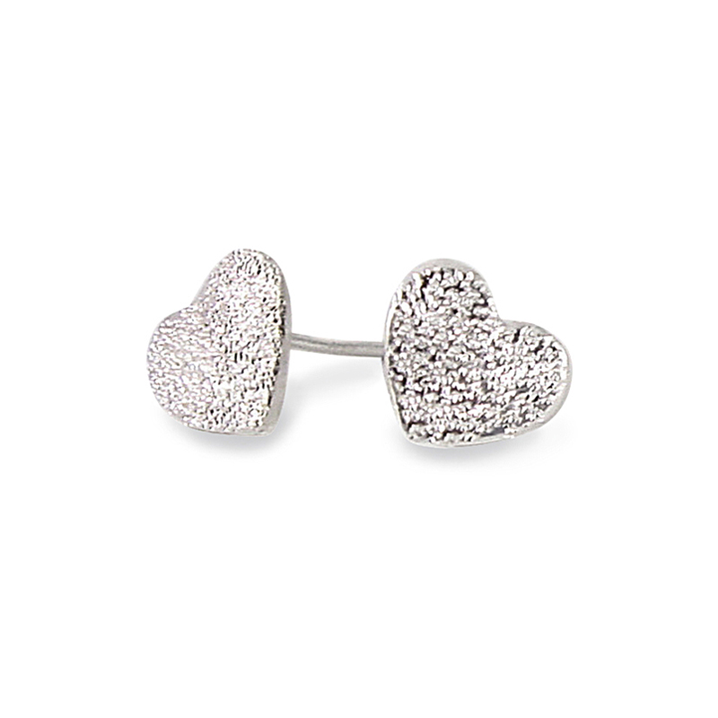 zoccai shaped l earrings in heart larger by rose marc jacobs view lyst metallic silver