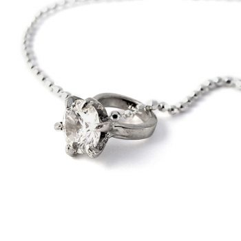 silver little girls big diamond ring necklace