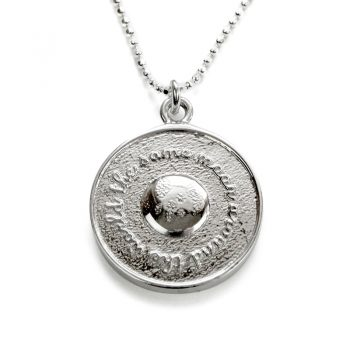 silver same moon around the world necklace