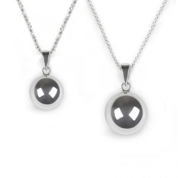 chiming ball necklace set