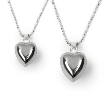 chiming heart necklace set