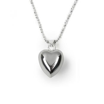little girls chiming heart necklace