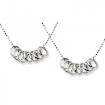 silver lucky seven necklace set