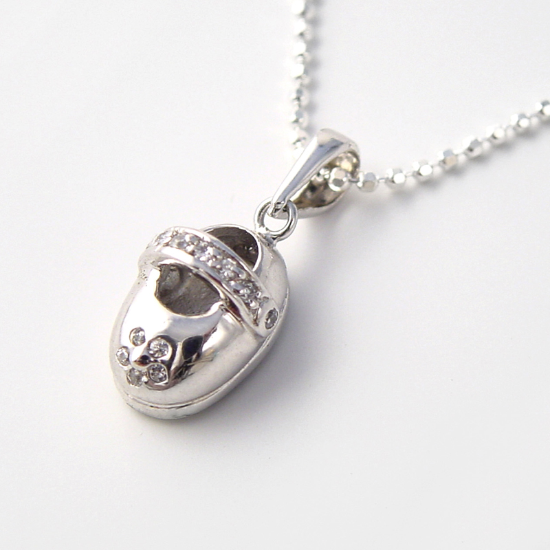 f753359bbe0 silver baby shoe charm necklace | Tales from the Earth