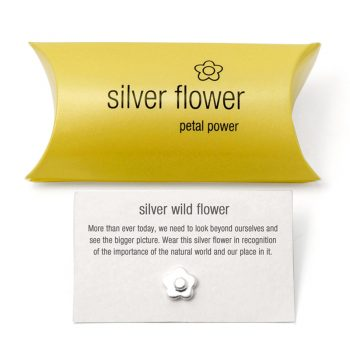 silver flower charm pillow pack