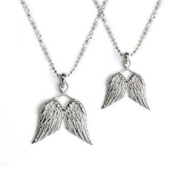 silver guardian angel wings set