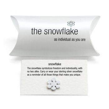 silver snowflake charm pillow pack