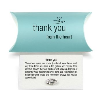 silver thank you charm pillow pack