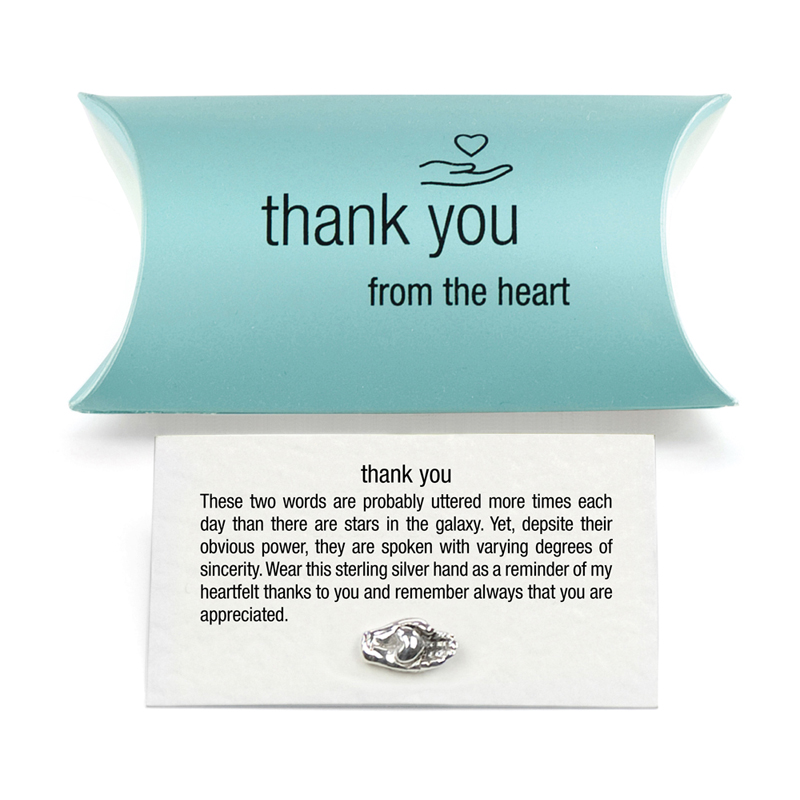 silver thank you charm pillow pack tales from the earth