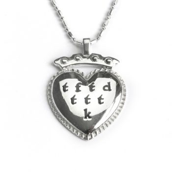 silver acrostic travel necklace