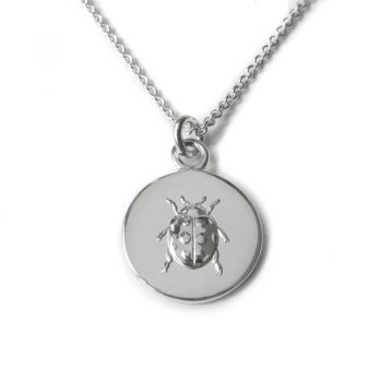 silver lady luck necklace