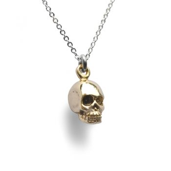silver memento mori necklace