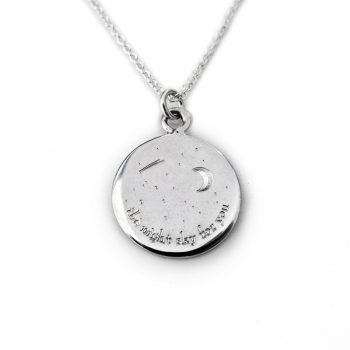 silver night sky necklace
