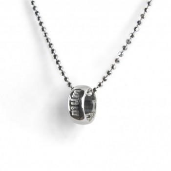 silver mum word circle necklace