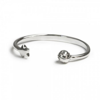 Star and moon bangle
