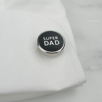 stainless steel Super Dad cufflinks by Tales From the Earth