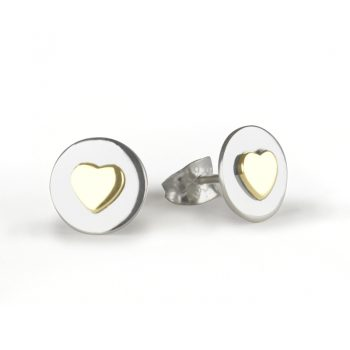 Love circle ear gold 800