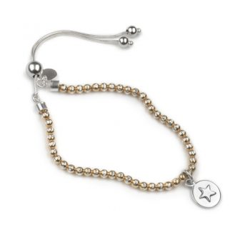 Bead brac rose-silver star 800