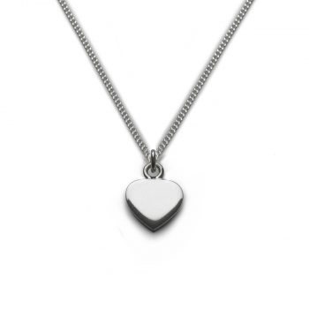 silver classic heart necklace